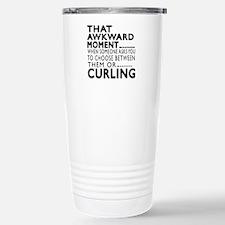 Curling Awkward Moment Travel Mug