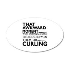 Curling Awkward Moment Desig Wall Decal