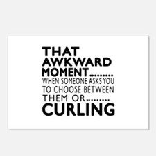 Curling Awkward Moment De Postcards (Package of 8)