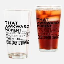 Cross Country Running Awkward Momen Drinking Glass