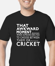 Cricket Awkward Moment Men's Fitted T-Shirt (dark)