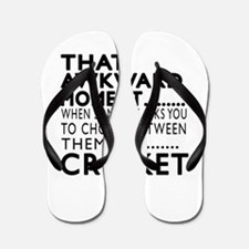 Cricket Awkward Moment Designs Flip Flops