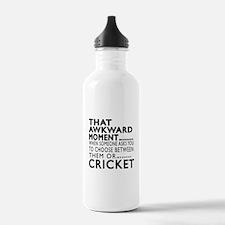 Cricket Awkward Moment Water Bottle
