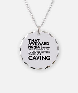 Caving Awkward Moment Design Necklace