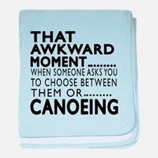 Canoeing Awkward Moment Designs baby blanket