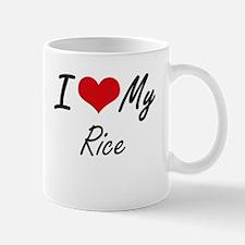 I Love My Rice Mugs