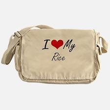 I Love My Rice Messenger Bag
