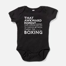 Boxing Awkward Moment Designs Baby Bodysuit