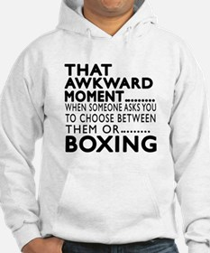 Boxing Awkward Moment Designs Hoodie