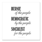 Bernie of the people Square Car Magnets