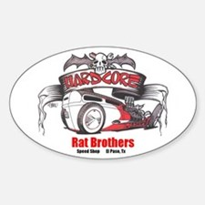 Rat Bros Oval Decal