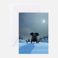 Dog and Elephant Friends Greeting Cards (Pk of 20)