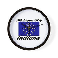 Michigan City Indiana Wall Clock