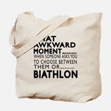 Biathlon Awkward Moment Designs Tote Bag