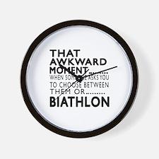 Biathlon Awkward Moment Designs Wall Clock