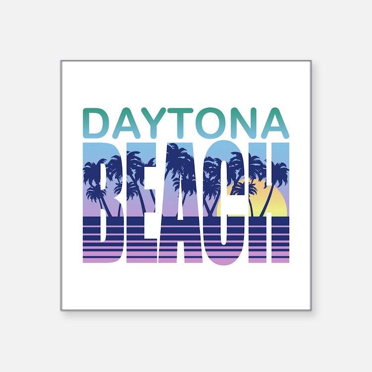 "Cute Daytona beach vacation Square Sticker 3"" x 3"""