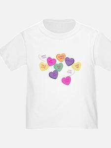 Cute Heart candy T