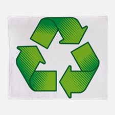 Cute Recycle symbol Throw Blanket