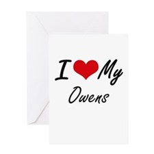I Love My Owens Greeting Cards