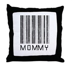 Mommy Barcode Throw Pillow