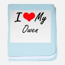 I Love My Owen baby blanket