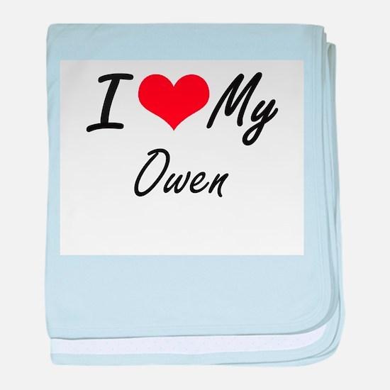 I Love My Owen baby blanket