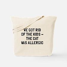 Cat was allergic Tote Bag