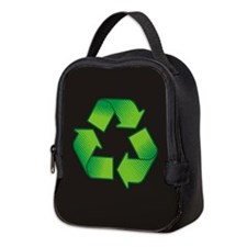 Unique Recycle symbol Neoprene Lunch Bag
