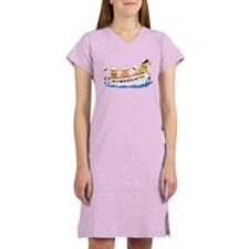 Nautical Retriever Preppy Dogs Women's Nightshirt