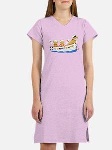 Nautical Retriever Preppy Dogs Women's Nightshirt