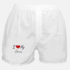 I Love My Obrien Boxer Shorts