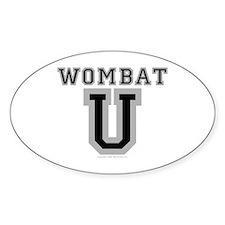 Wombat U Oval Decal