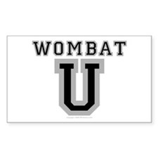 Wombat U Rectangle Decal
