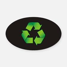 Cute Environment Oval Car Magnet