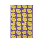 Toy Rubber Duck Pattern Rectangle Magnet