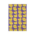 Toy Rubber Duck Pattern Rectangle Magnet (10 pack)
