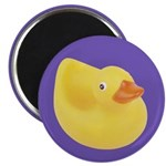 """Toy Rubber Duck Pattern 2.25"""" Magnet (10 pack)"""