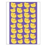 Toy Rubber Duck Pattern Small Poster