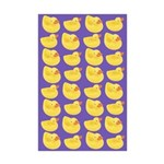 Toy Rubber Duck Pattern Mini Poster Print