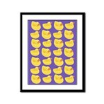 Toy Rubber Duck Pattern Framed Panel Print