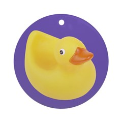 Toy Rubber Duck Pattern Ornament (Round)
