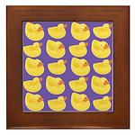 Toy Rubber Duck Pattern Framed Tile
