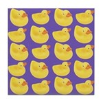 Toy Rubber Duck Pattern Tile Drink Coaster