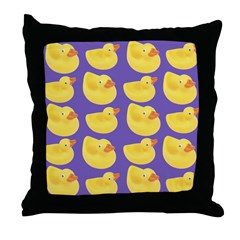 Toy Rubber Duck Pattern Throw Pillow