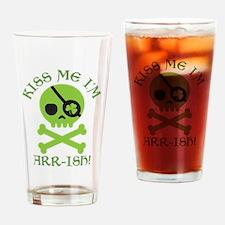 Kiss Me I'm Arr-ish Drinking Glass