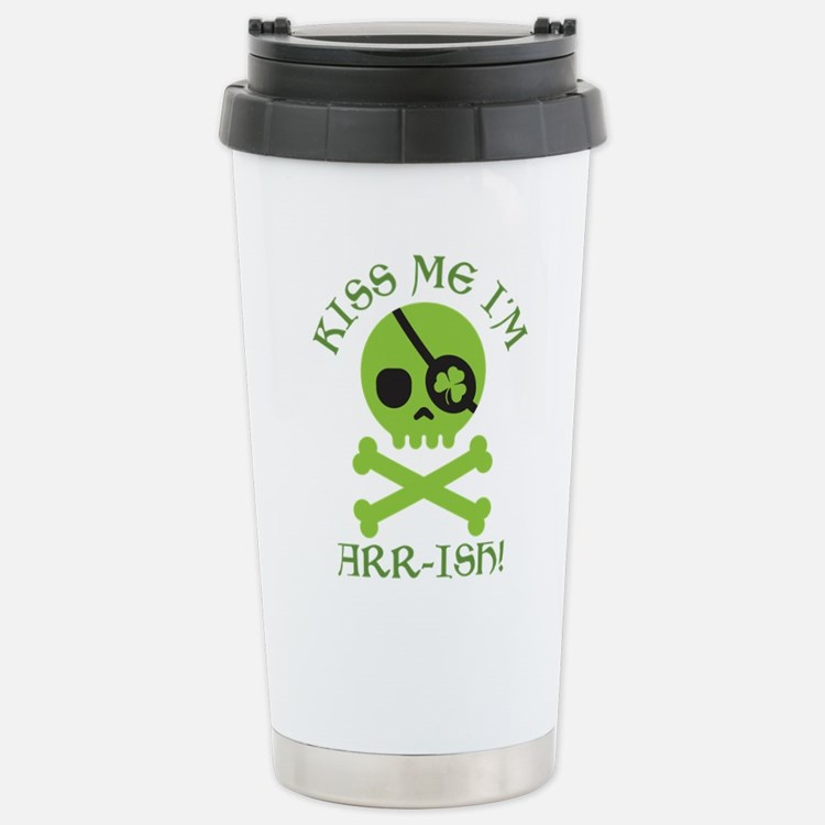 Kiss Me I'm Arr-ish Travel Mug