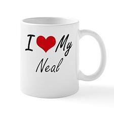 I Love My Neal Mugs