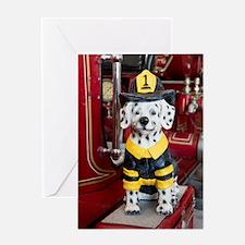 Cute Dalmatians fire Greeting Card