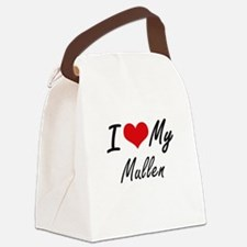 I Love My Mullen Canvas Lunch Bag