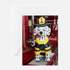Funny Dalmatians fire Greeting Card